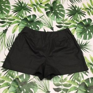 Kate Spade Saturday Black Faux Leather Shorts